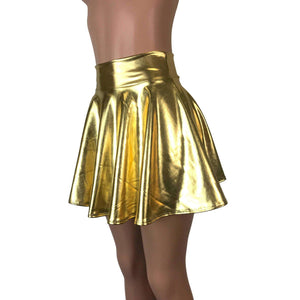 Skater Skirt - Gold Metallic - Peridot Clothing