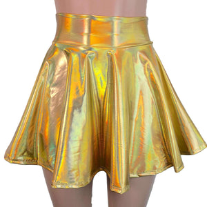 Skater Skirt - Gold Opal Holographic - Peridot Clothing