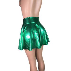 Skater Skirt - Green Metallic - Peridot Clothing