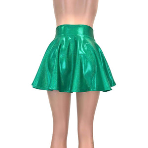 Skater Skirt - Green Sparkle - Peridot Clothing