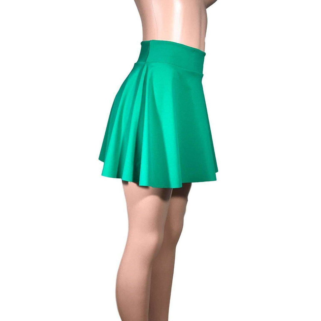 Skater Skirt - Kelly Green Spandex - Peridot Clothing