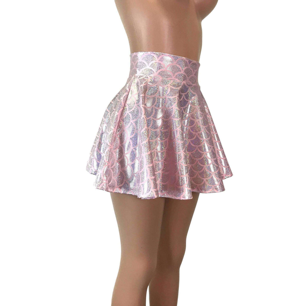Skater Skirt - Light Pink Mermaid Scales - Peridot Clothing