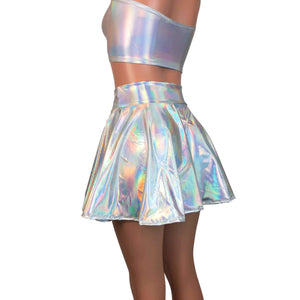 Skater Skirt - Opal Holographic Iridescent - Peridot Clothing