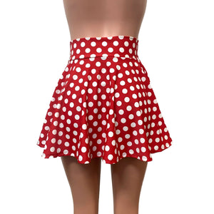 Skater Skirt - Red & White Polka Dot - Peridot Clothing
