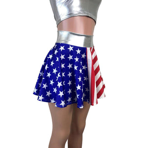 Skater Skirt - Stars & Stripes - Peridot Clothing
