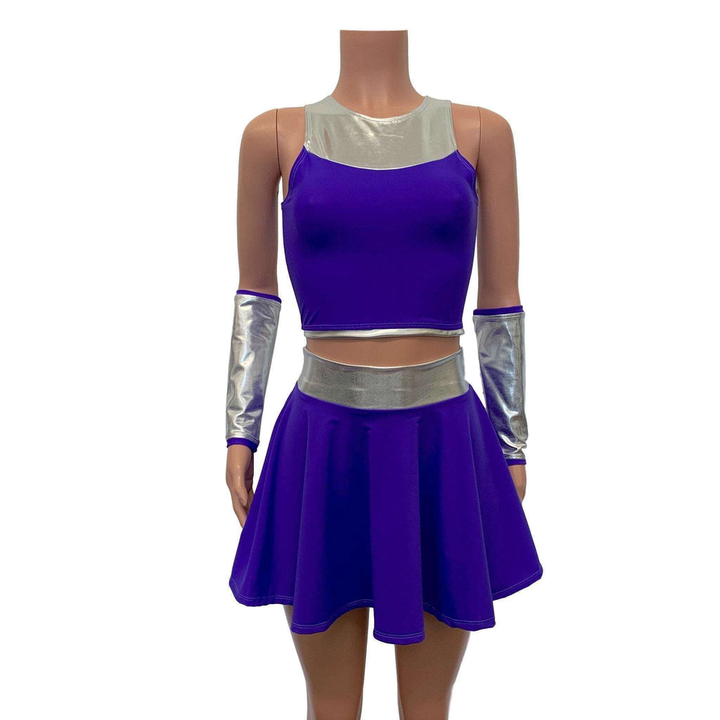 Starfire Costume - Teen Titans Cosplay Outfit - Peridot Clothing