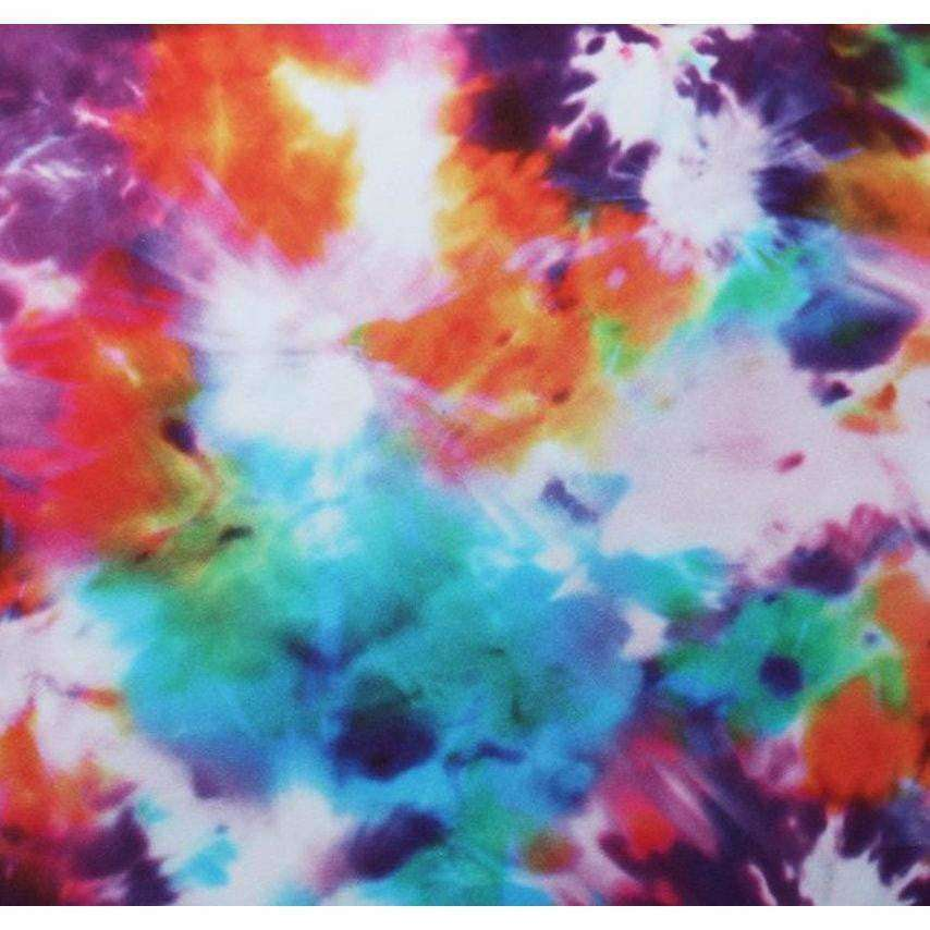 Tie Dye Blitz Poly Spandex Fabric by-the-yard - Peridot Clothing