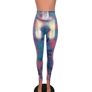 Tie Dye Rainbow Mystique High Waist Leggings Pants - Peridot Clothing