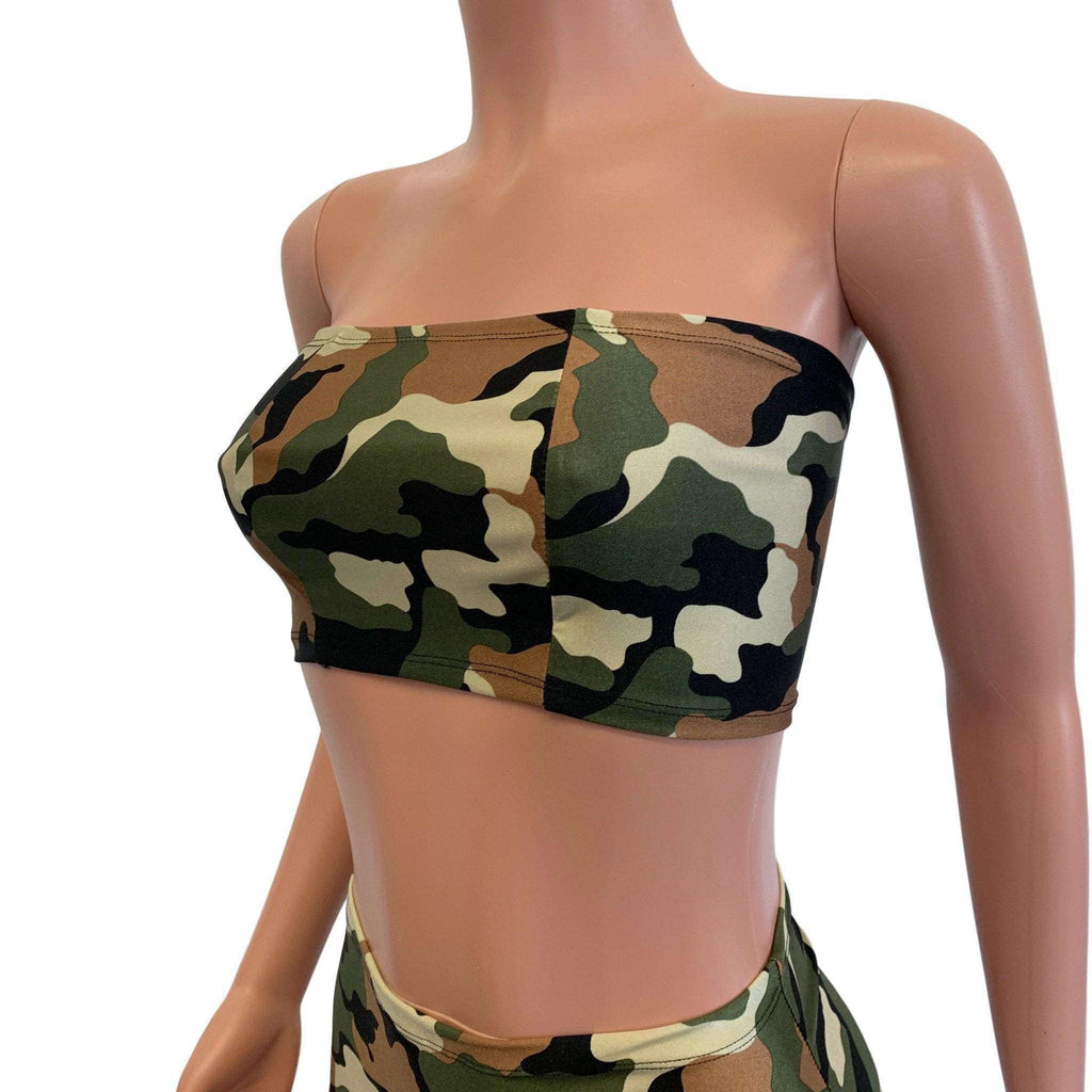 Tube Top Bandeau - Camo Camouflage - Peridot Clothing