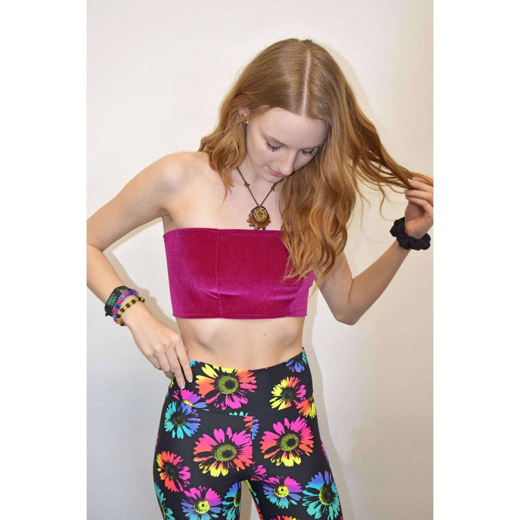 Tube Top Bandeau - Fuchsia Velvet - Peridot Clothing