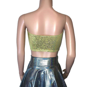 Tube Top Bandeau - Gold Shattered Glass - Peridot Clothing