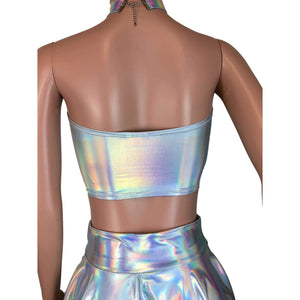Tube Top Bandeau - Opal Holographic - Peridot Clothing
