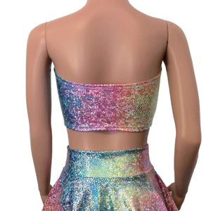 Tube Top Bandeau - Rainbow Avatar Holographic - Peridot Clothing