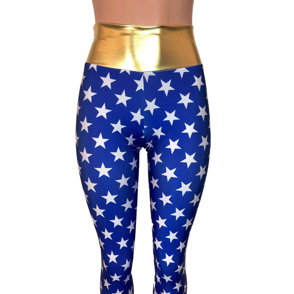 Wonder Woman Inspired High Waist Leggings Pants - Peridot Clothing
