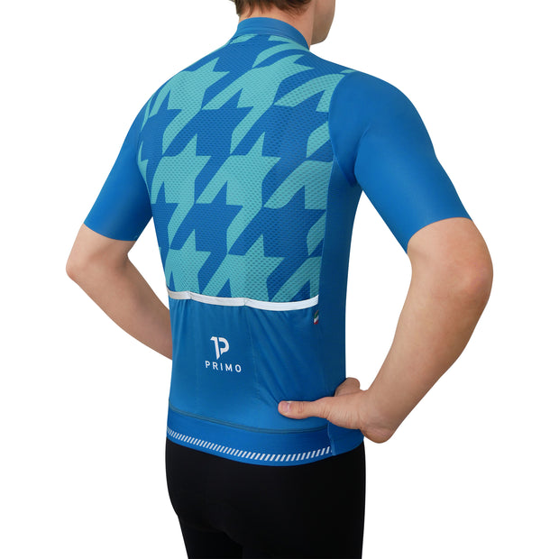 Corsa Houndstooth Forest Blue Jersey