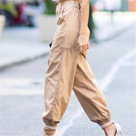 S-3XL Plus Size Pants Women Casual High Waist Cargo Pants Women