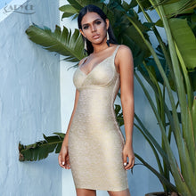 Load image into Gallery viewer, Adyce Gold Bodycon Bandage