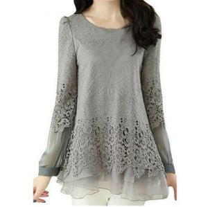 New Women's Shoes Lace Chiffon Womens Clothing Blouse Fashion