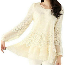 Load image into Gallery viewer, New Women's Shoes Lace Chiffon Womens Clothing Blouse Fashion