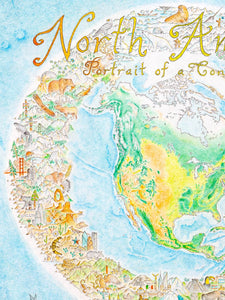 "North America: Portrait of a Continent - laminated poster (41 x 51"")"