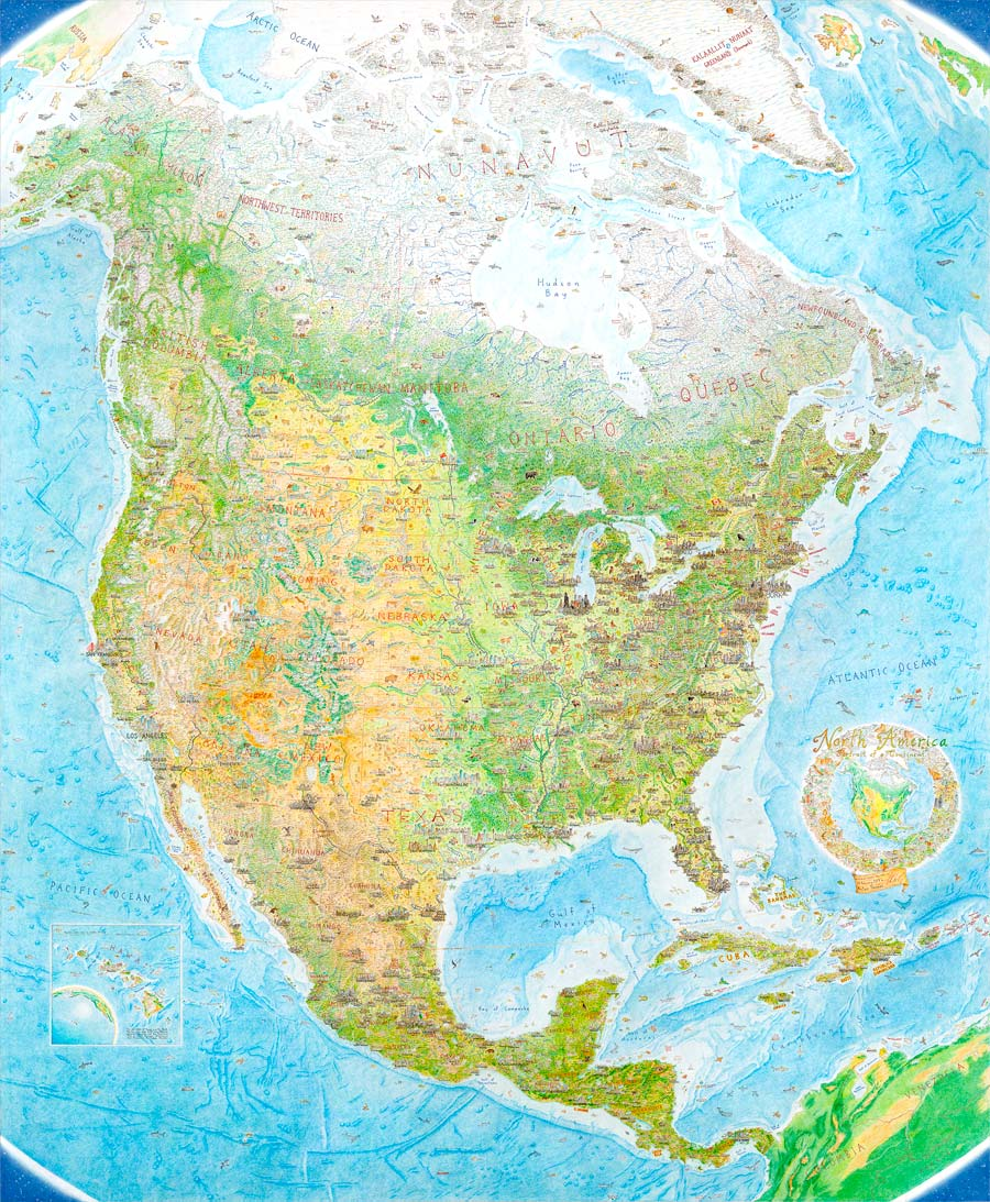 North America: Portrait of a Continent - poster (40 x 50