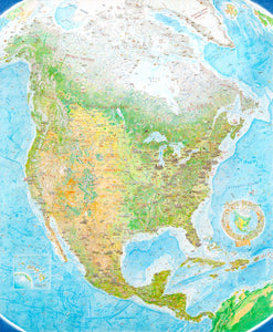 "North America: Portrait of a Continent - limited edition of 400, giclée fine art print (48 x 59"" - original size)"