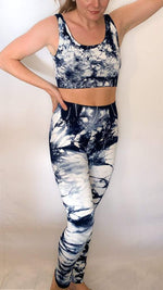 Liberated Society Fashion Go with the Flow Tie Dye Legging Set One Size