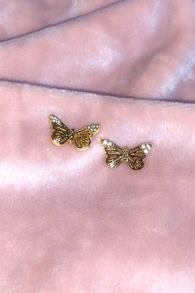 Liberated Society Fashion Gold Butterfly Earrings Earrings