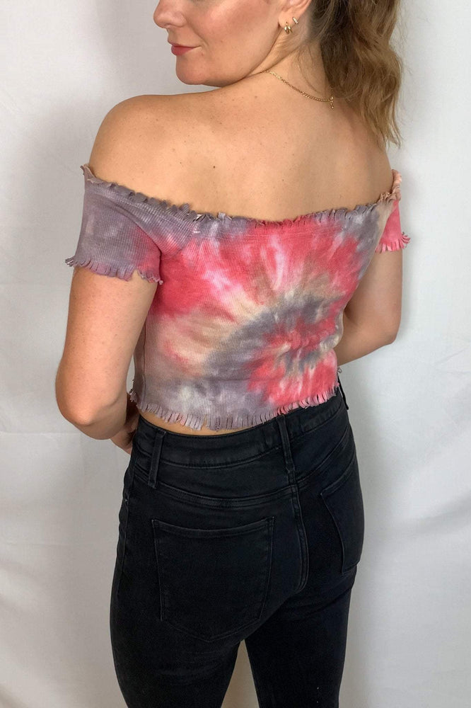 Liberated Society Fashion Good Vibes Off the Shoulder Top Tops