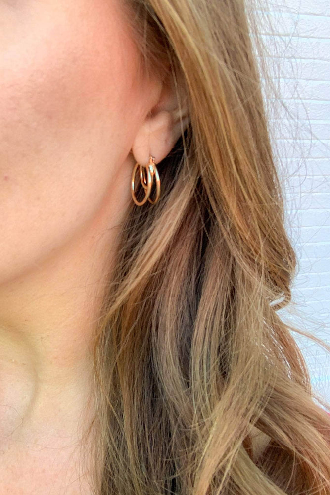 Liberated Society Fashion Legendary Gold Double Hoop Accessories