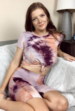 Liberated Society Fashion Stay Grateful Tie-Dye Matching Set Loungewear Sets