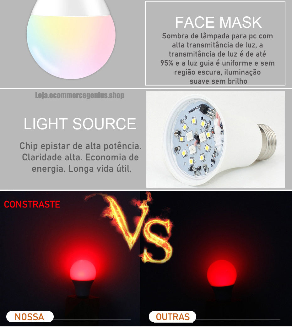 lampada led com clareamento forte
