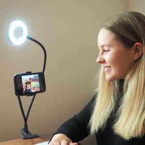 The Glow Ring - Portable LED Ring Light & Phone Holder Glow Villa