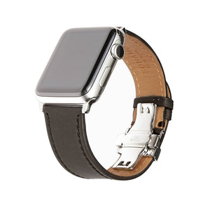 Apple Watch Barenia Leather Strap - Gray