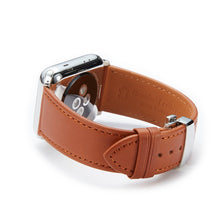Load image into Gallery viewer, Apple Watch Barenia Leather Strap - Brown (Butterfly Buckle)
