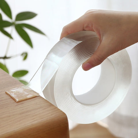 2020 Transparent Velcro Nano Tape Washable and Reusable Double-sided Adhesive Adhesive Universal Hook Tape for Furniture