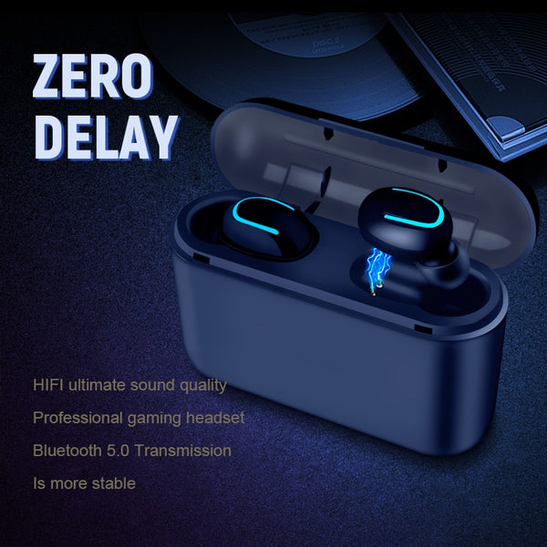Bluetooth Earphones TWS Wireless Blutooth 5.0 Earphone Handsfree Headphone Sports Earbuds Gaming Headset Phone PK HBQ