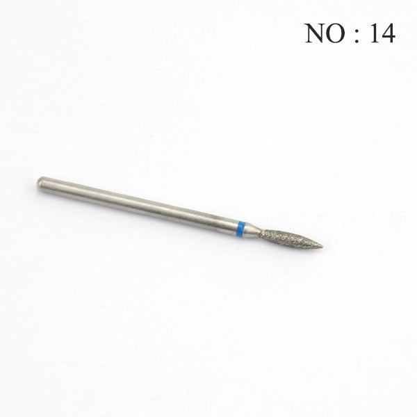 1pcs Diamond Milling Cutters for Manicure Nail Drill Apparatus for Manicure Cuticle Clean Bit Elecric Machine Pedicure Accessory