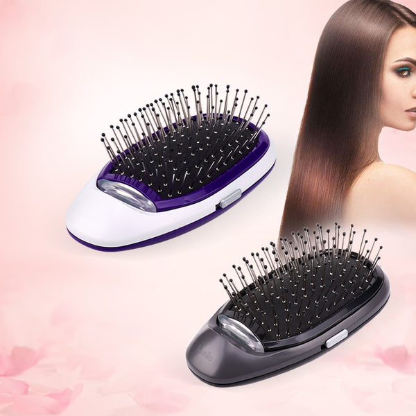Ionic Electric Hairbrush, Portable Electric Ionic Hairbrush Negative Ions Hair Comb Brush Hair Modeling Styling Magic Hairbrush - Trendz Again