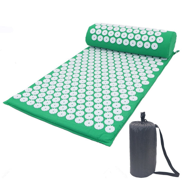 Acupressure Mat and Pillow Set Relieve Stress Tension Pain - Trendz Again