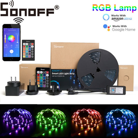Dimmable Smart Wifi LED Strip Light Kit Work With Amazon Google