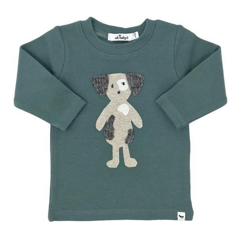 Oh Baby! Long Sleeve Tee - Rag Doll Spot Dog Sea