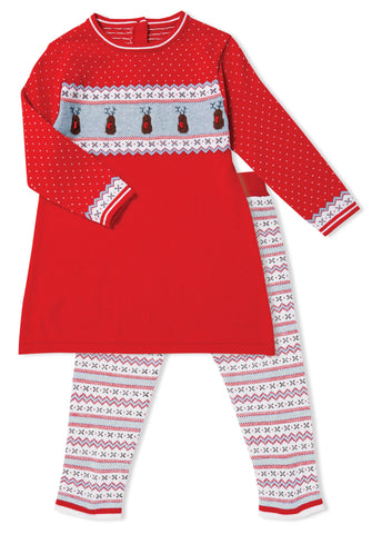 Angel Dear Knit Tunic & Legging Set - Reindeer - Let Them Be Little, A Baby & Children's Boutique