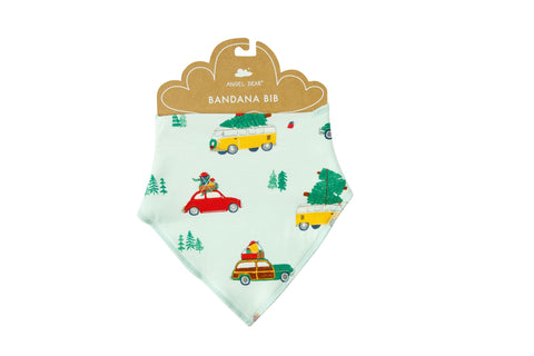 Angel Dear Bamboo Bandana Bib - Cars with Trees