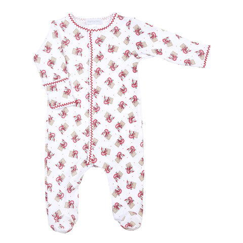 Magnolia Baby Printed Footie - Vintage Up on the Housetop