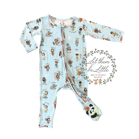 Bellabu Bear Convertible Footie - Goodnight World - Let Them Be Little, A Baby & Children's Boutique