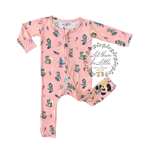 Bellabu Bear Convertible Footie - Skater Kitty - Let Them Be Little, A Baby & Children's Boutique
