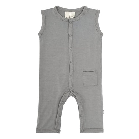 Kyte Baby Sleeveless Romper - Chrome