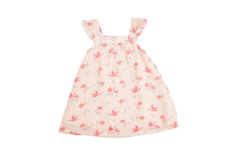 Angel Dear Muslin Sundress - Flamingo