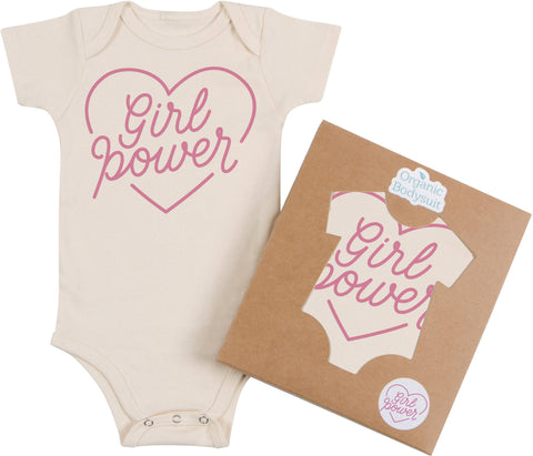 Morado Designs Organic Bodysuit/Tee - Girl Power - Let Them Be Little, A Baby & Children's Boutique